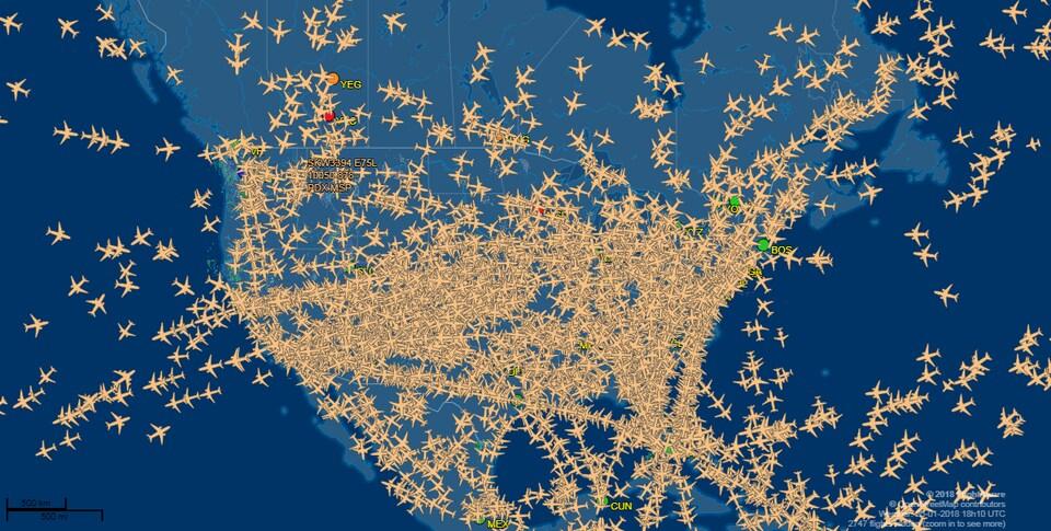 Vols en temps réel, jeudi à 13 h10. Chaque jour, dans le monde, huit millions de passagers s'assoient dans un avion.