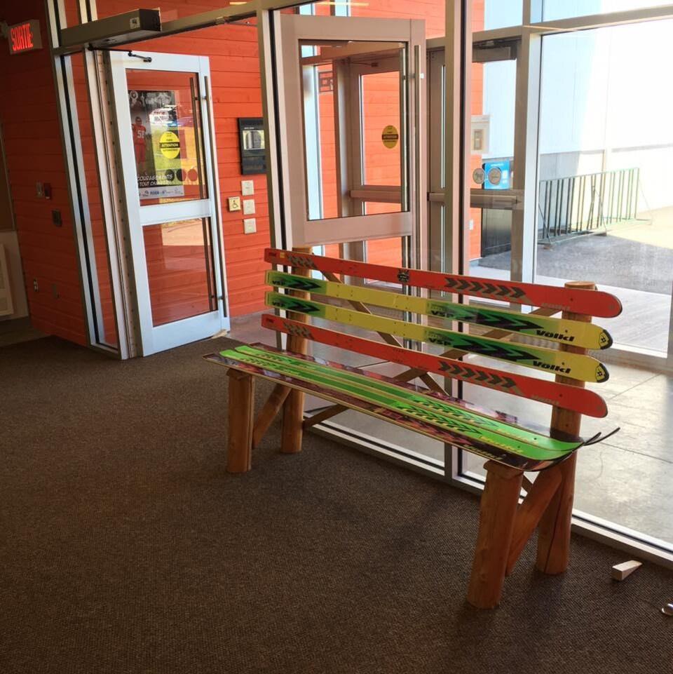 Un banc réalisé par Ski's'récup