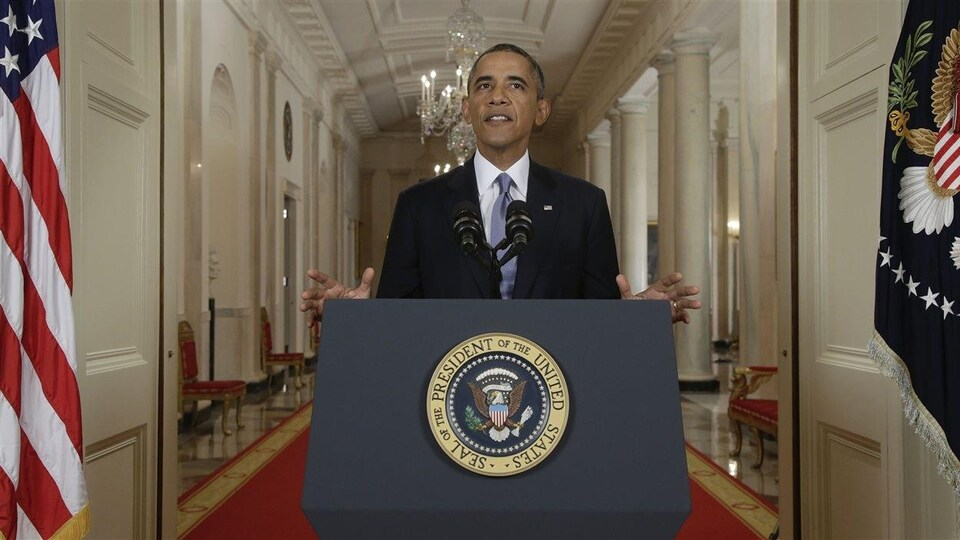 Barak Obama à la Maison-Blanche.