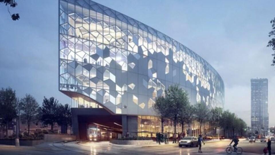 Une nouvelle bibliothèque au design hyper-moderne.