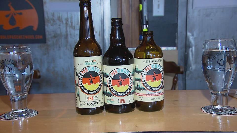La bière est fabriquée avec des ingrédients 100 % québécois.