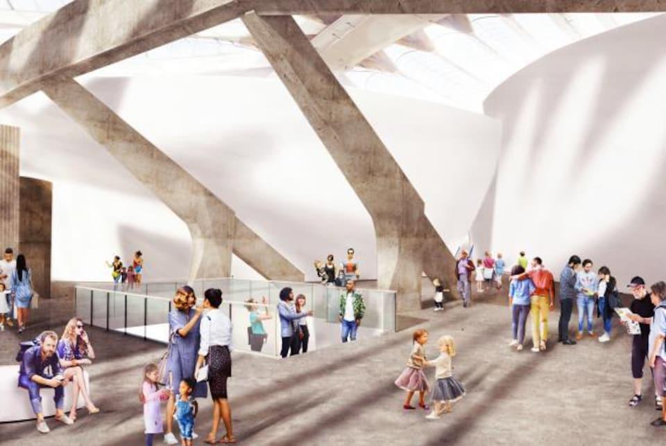 Ces clients fictifs arpentent le nouveau Biodôme dans une simulation visuelle du projet de rénovation.