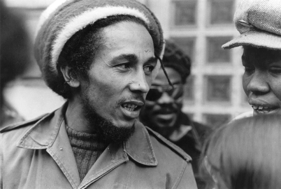 Bob Marley à Londres en juin 1977