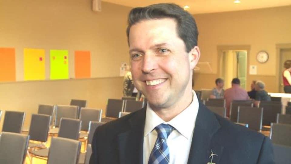 Brad Trivers, candidat à la direction des progressistes-conservateurs de l'I.-P.-É., veut mettre l'accent sur des politiques vertes.