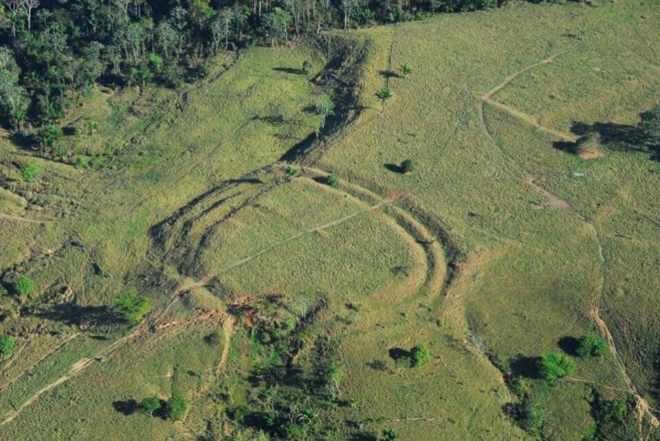 L'une des terrasses découvertes dans l'État d'Acre au Brésil.