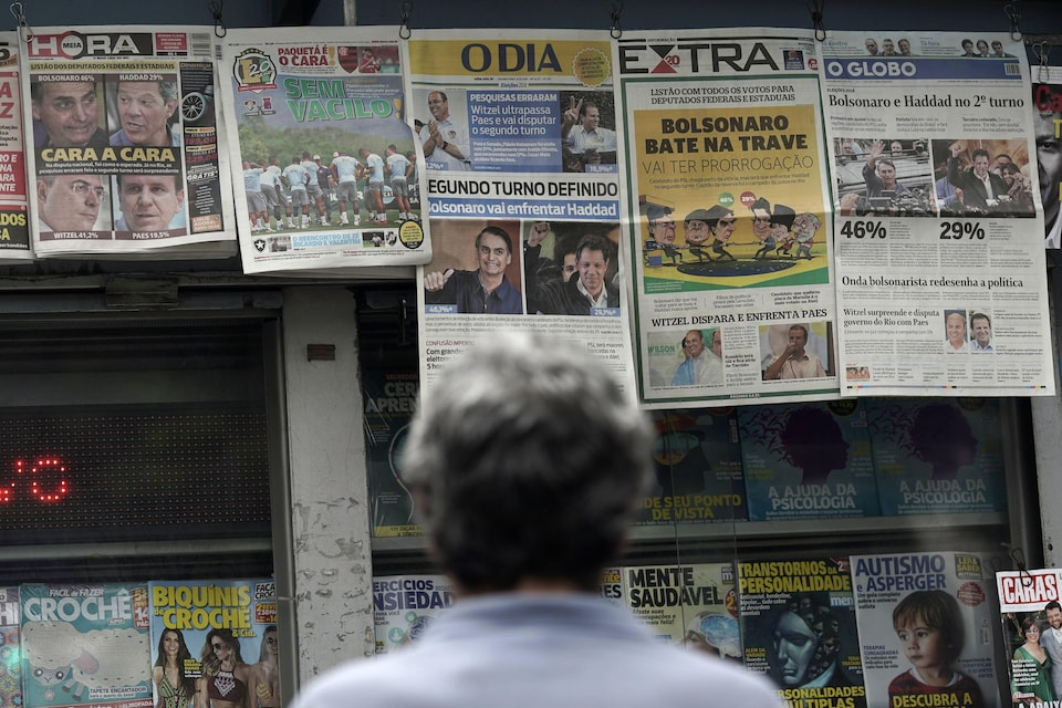 Au Brésil, un deuxième tour pour élire le président aura lieu le 28 octobre.