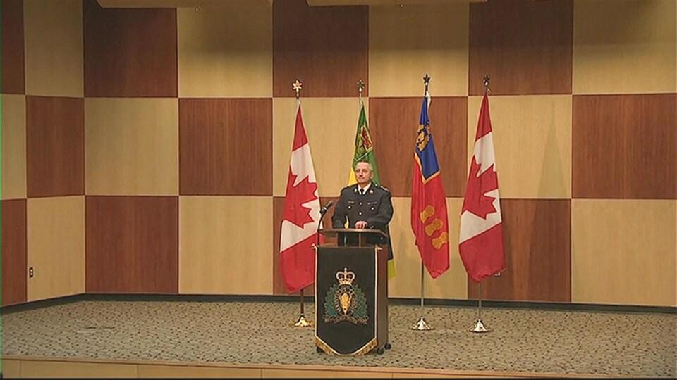 Le commissaire adjoint Curtis Zablocki, commandant de la GRC en Saskatchewan.