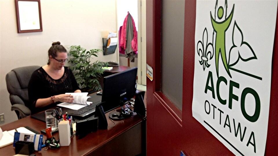 Isabelle Miron, la présidente de l'Association des communautés francophones d'Ottawa (ACFO).