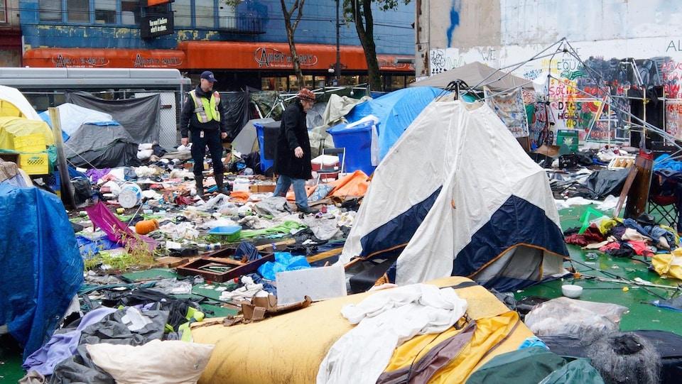Le camp de tentes