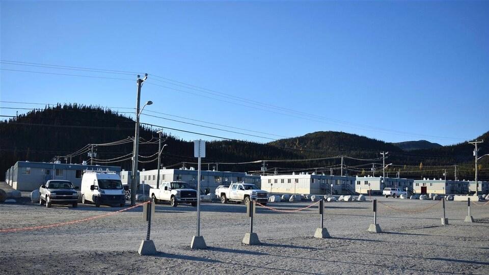 Le campement Mista, où logent les ouvriers qui travaillent au complexe hydroélectrique de la Romaine.