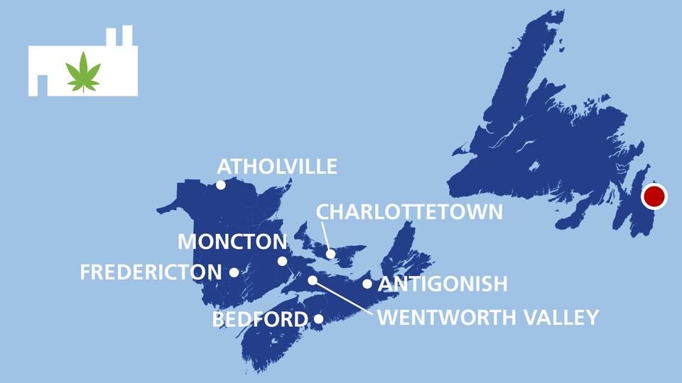 Les producteurs de cannabis dans les provinces de l'Atlantique