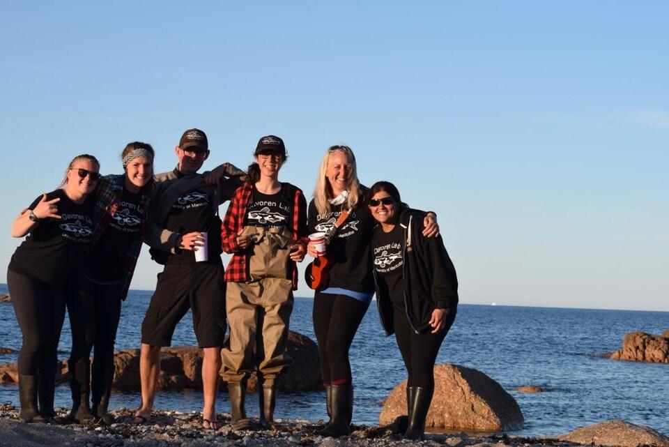 Des chercheurs sur l'écosystème marin