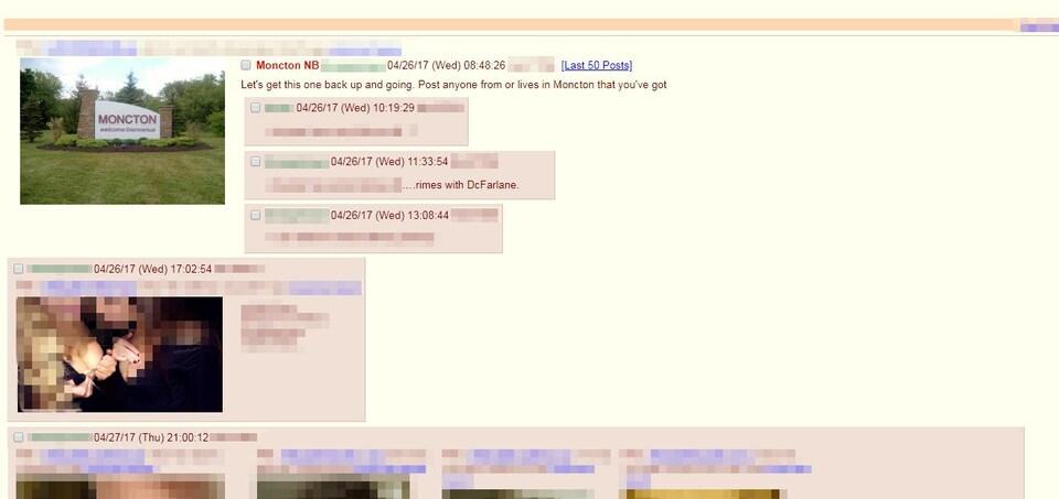 Une capture d'écran d'un des forums