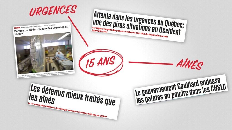 Image tirée d'une publicité de la Coalition avenir Québec sur le système de santé québécois