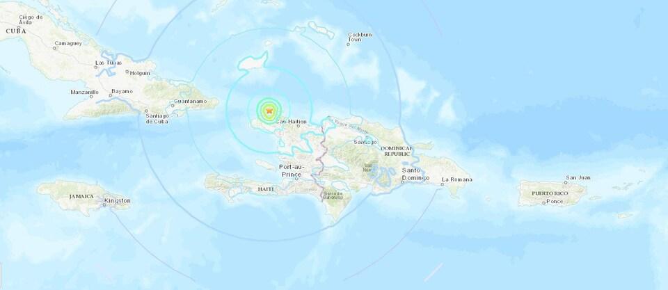 Port-de-Paix est situé dans le nord d'Haïti.