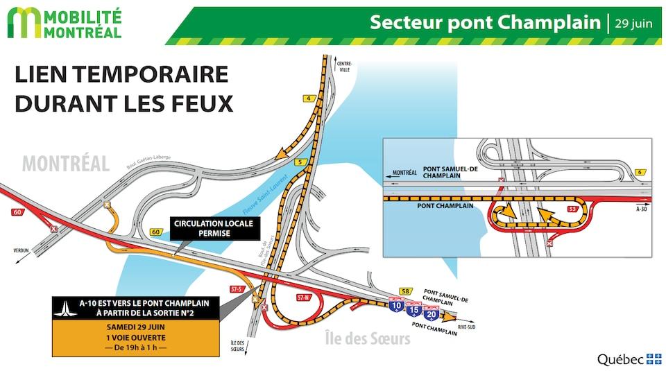 Carte du parcours alternatif.