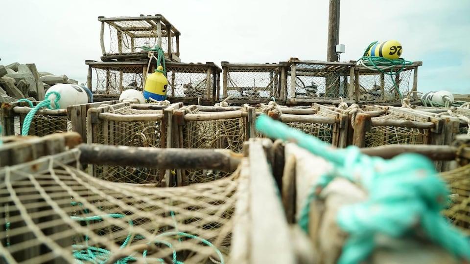 Casiers à homard aux Îles-de-la-Madeleine