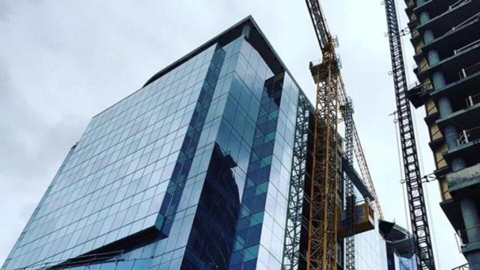 Construction du centre des congrès d'Halifax.