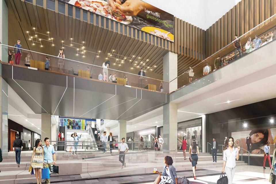 Une maquette du futur Centre Eaton.
