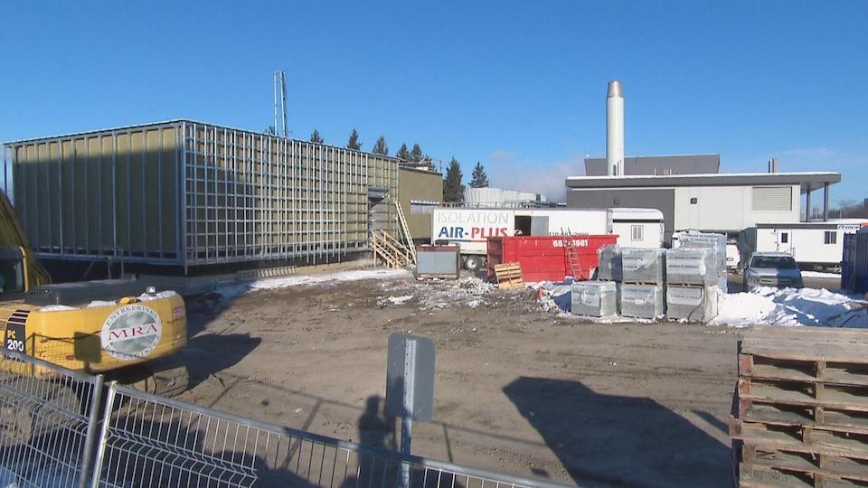 Chantier du nouveau centre de valorisation des données de l'Université Laval.