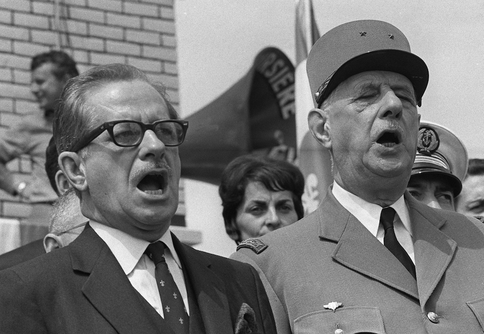 Charles de Gaulle et Daniel Johnson