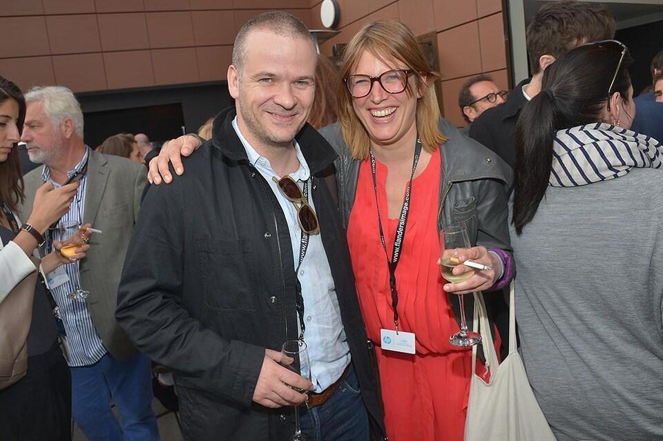 Charles Tremblay au Festival de Cannes en 2014 (en compagnie de Dorothee Pfistner)