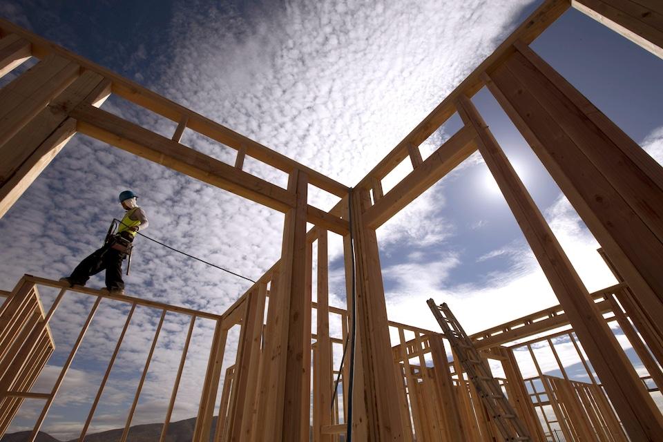 Charpente d'une maison en construction