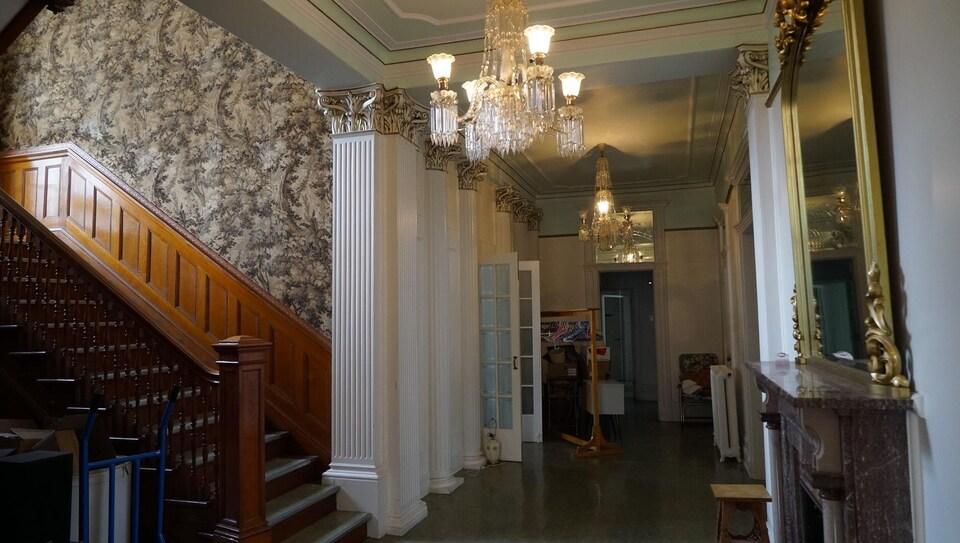 Voici une partie de l'intérieur du Château Beauce construit en 1904.