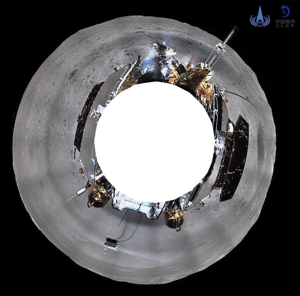 La sonde lunaire chinoise et son robot d'exploration