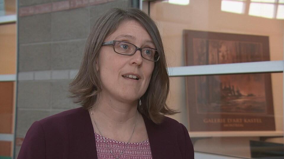 Christine Gauthier, présidente du Syndicat des chargé(e)s de cours de l'Université Laval