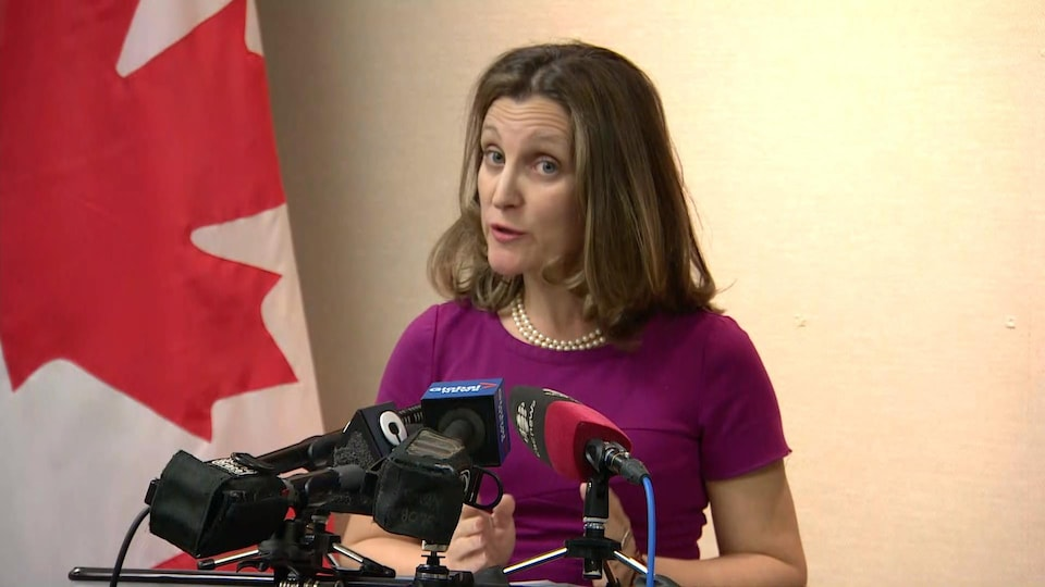 La ministre des Affaires internationales Chrystia Freeland.