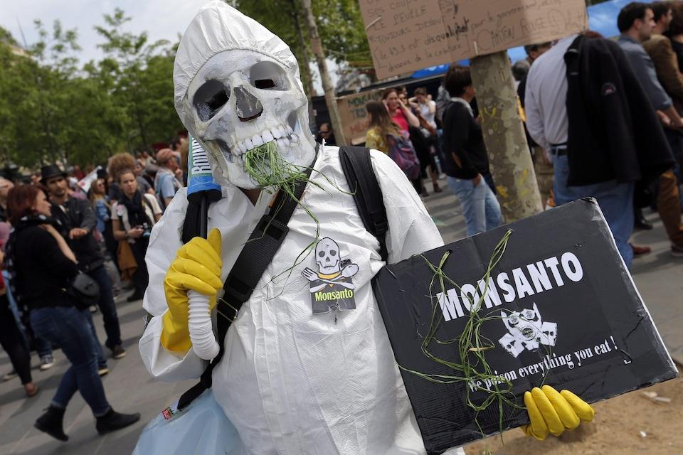 Manifestation contre Monsanto à Paris en 2016.