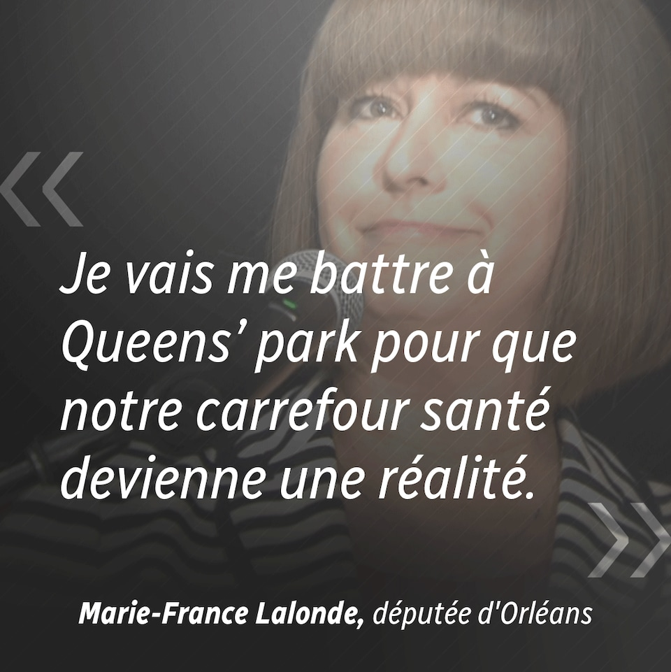 Une citation de Marie-France Lalonde