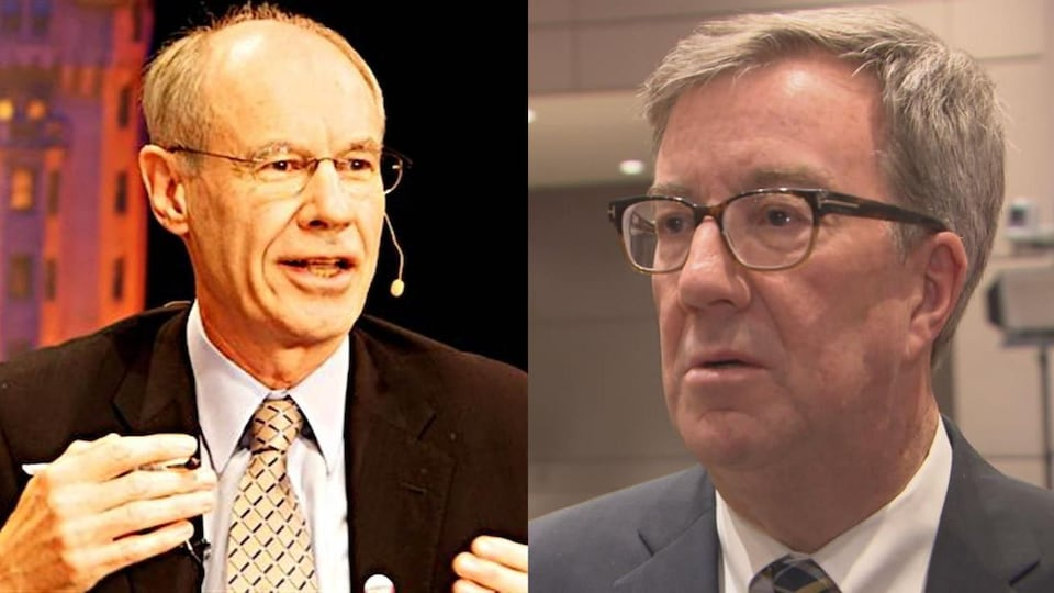 Un montage photo montre les deux hommes politiques.