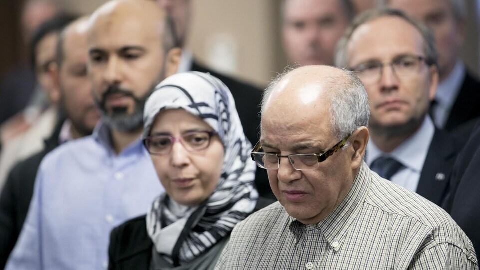 La communauté musulmane a pris la parole à l'hôtel de ville, au lendemain de l'attaque terroriste survenue au Centre culturel islamique de Québec