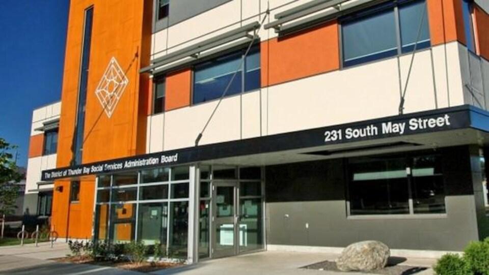 Bureaux du conseil d'administration de district des services sociaux de Thunder Bay.