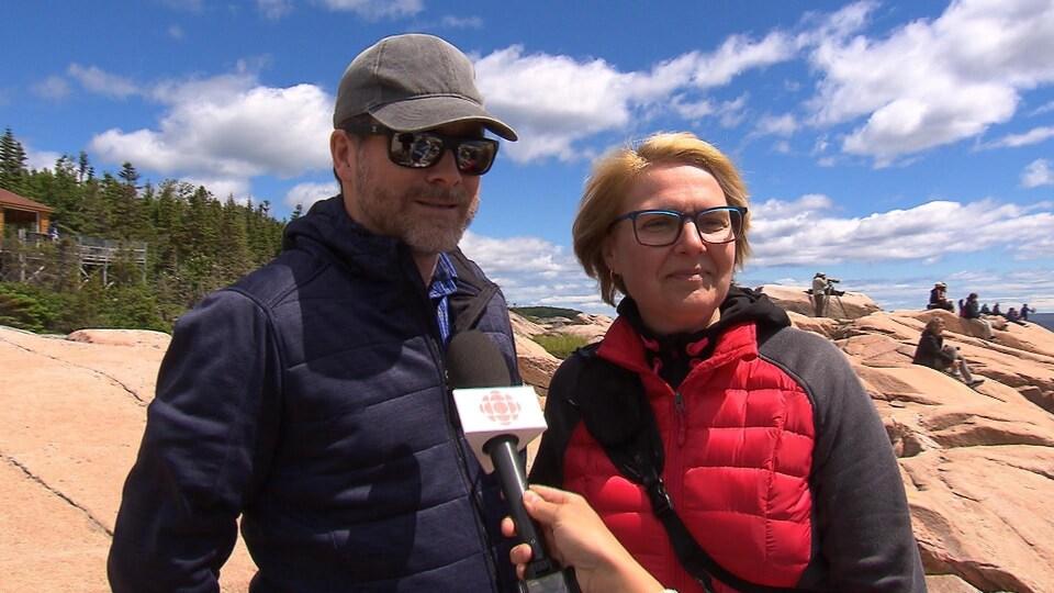 Normand Villeneuve et Lucie Proulx, un couple de touristes de Québec