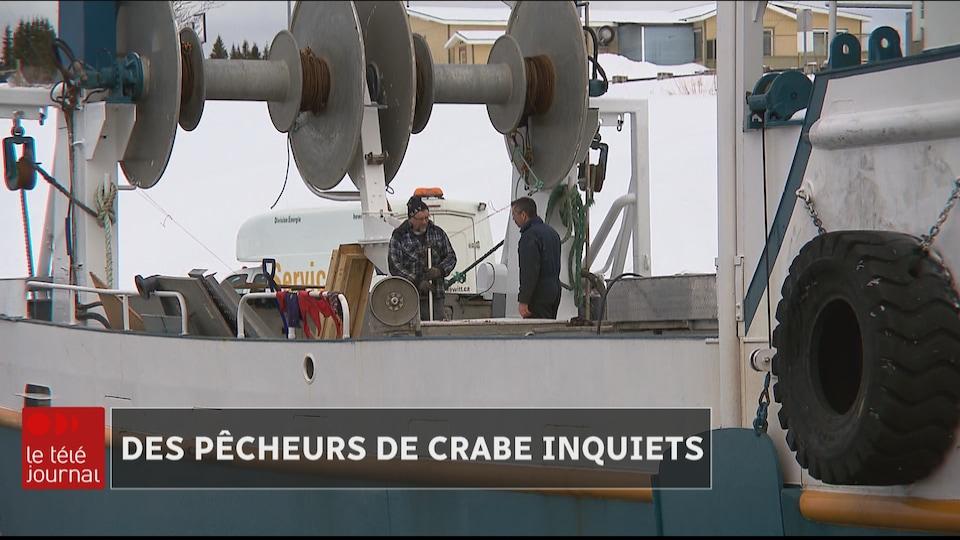 Préparation des crabiers à Sainte-Thérèse-de-Gaspé