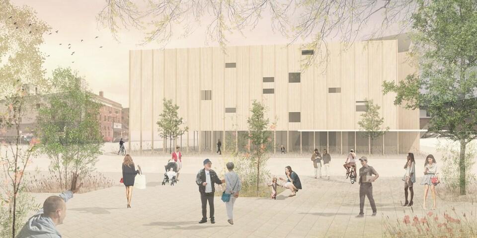 Croquis de la future Place des Arts du Grand Sudbury.