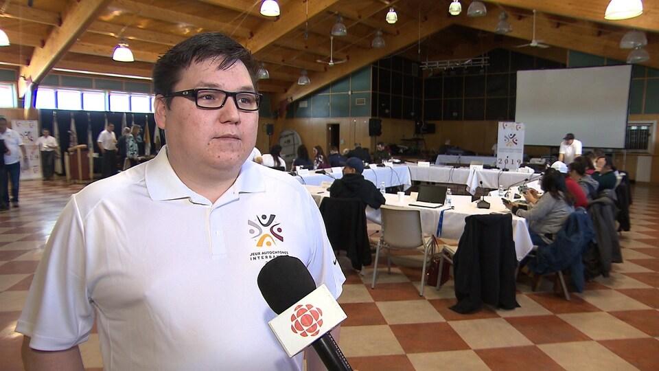 Dave Vollant, président du comité organisateur des Jeux interbandes