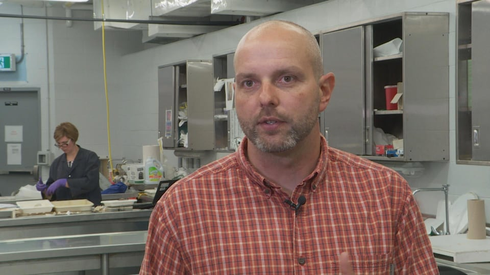 David Cote, scientifique à Pêches et Océans Canada ainsi que professeur adjoint à l'Université Memorial.