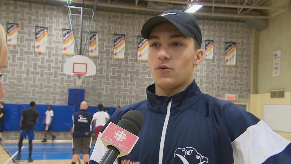 Anthony Martel-Drouin, ex-élève de l'école secondaire Vanier