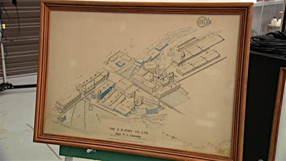 Un plan de l'ancienne usine de pâtes et papiers E.B. Eddy de Gatineau. (Archives)