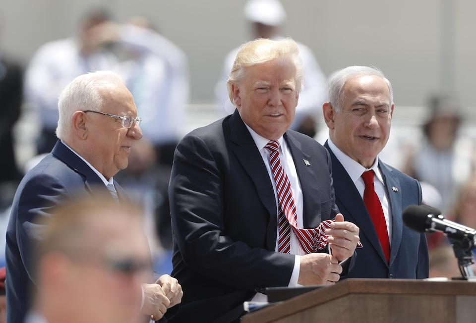Le président américain Dolnald Trump et le premier ministre israélien Benyamin Nétanyahou.