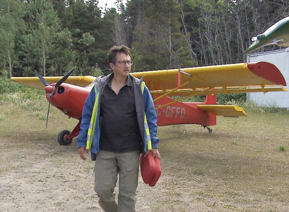 Le responsable de l'aéroport de Matane, Eddy Métivier