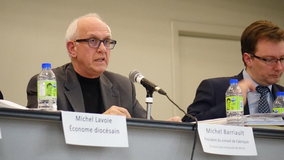 Michel Barriault, président de la Fabrique Coeur-Immaculé-de-Marie