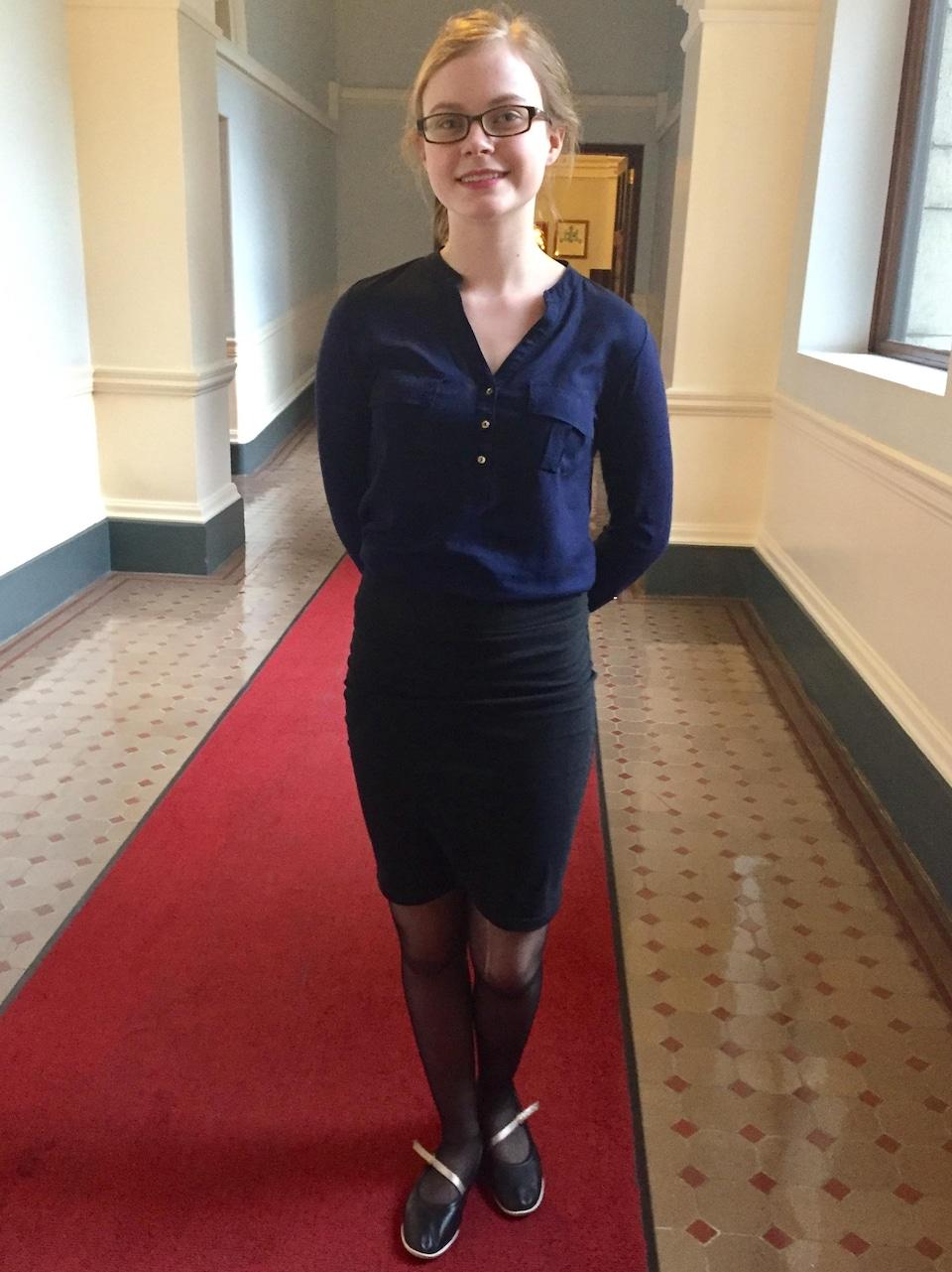 Emma Dreher, participante au Parlement jeunesse francophone de la Colombie-Britannique 2017