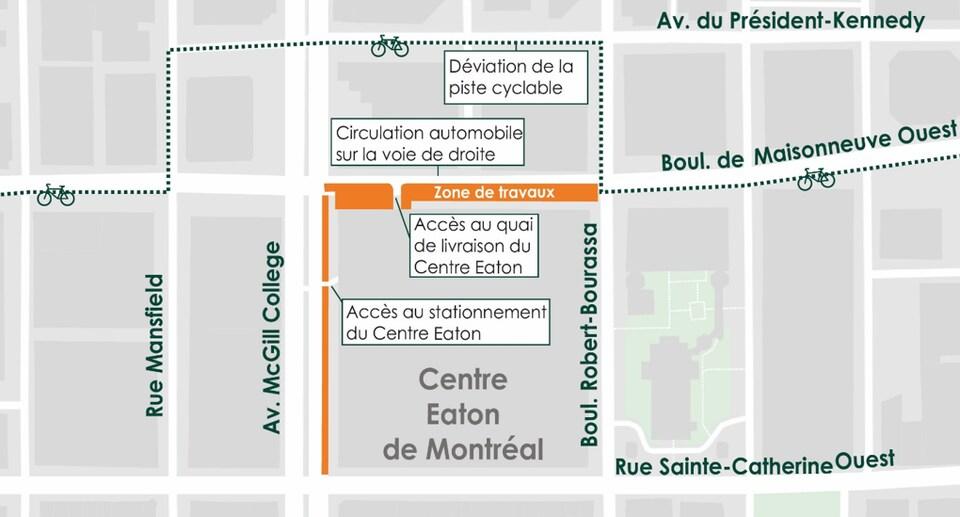 Une carte du centre-ville.