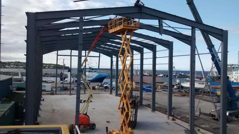 Le chantier naval des Entreprises Maritimes Bouchard, à Gaspé