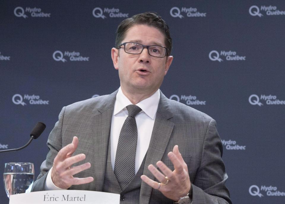 Le PDG d'Hydro-Québec, Éric Martel.